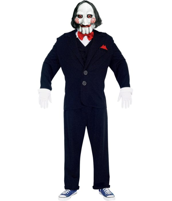 Saw Puppet Costume, Mens Jigsaw Costume Halloween Outfit