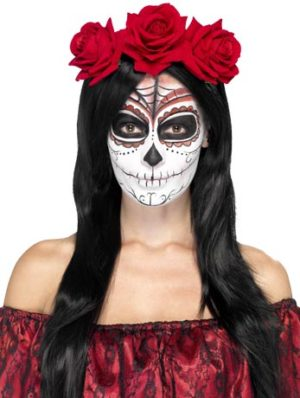 Day of the Dead Headband, Sugar Skull Flower Headpiece