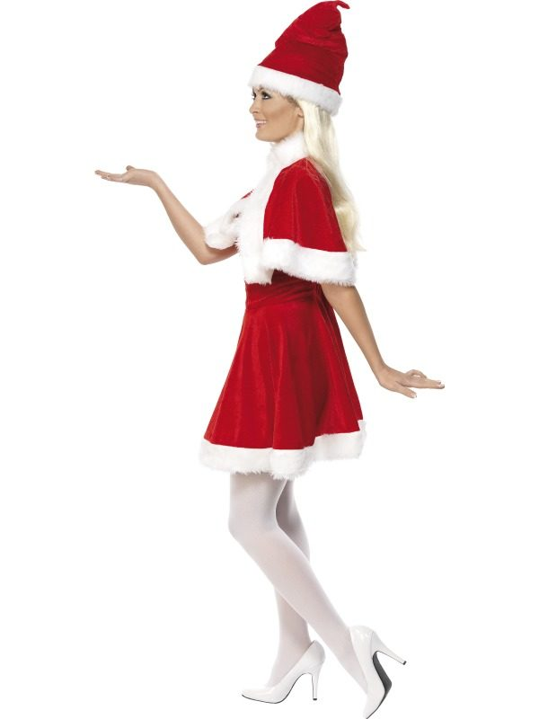 Miss Claus Outfit with Cape and Hat