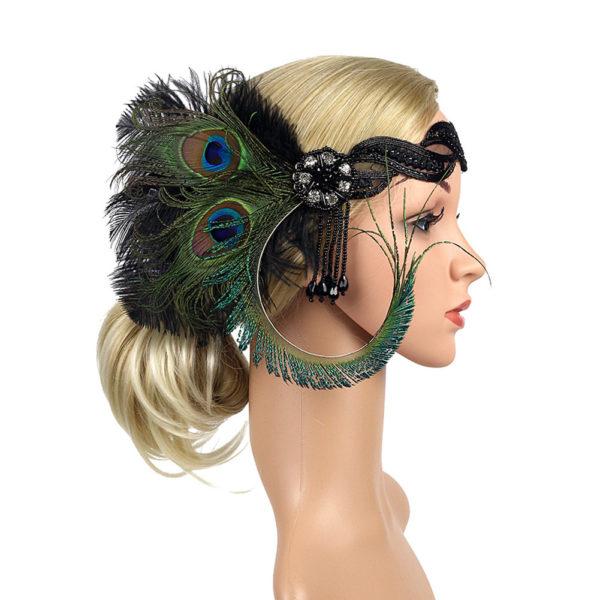 20s headpiece Flapper headband 1920s headpiece
