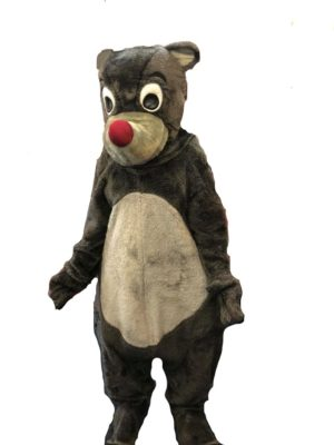 Baloo Costume Jungle Book Fancy Dress Adult Grey Bear Outfit
