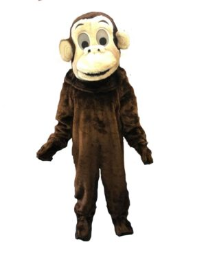 Monkey Costume Cheeky Chimp Fancy Dress Adult Animal Outfit