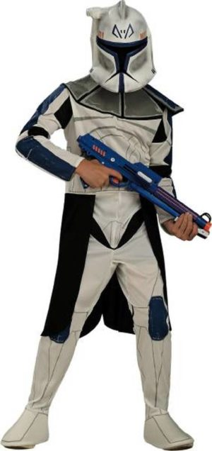 Kids Clone Trooper Costume Blue Clonetrooper Leader Rex Costume