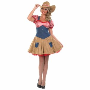 Cowgirl Costume Dress Hat - Adult Sexy Cowgirl Fancy Dress