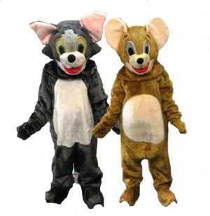 Tom and Jerry Fancy Dress Cat and Mouse Costumes Cartoon Outfit