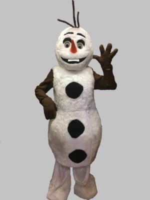 Adult Snowman Costume, Frozen Fancy Dress Mascot