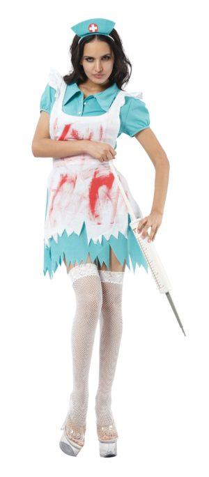 Bloody Nurse Fancy Dress Halloween Horror Nurse Costume