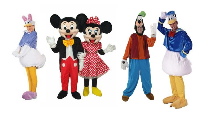 Character costumes Disney Fancy Dress Mascot Outfits