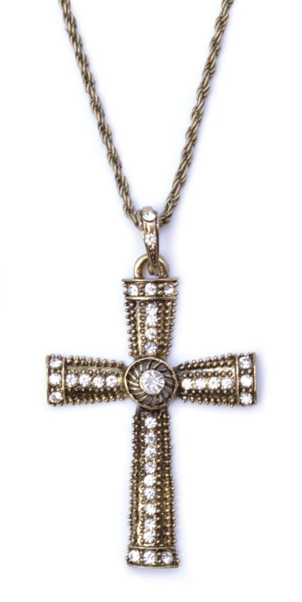 Jewelled Cross Necklace Medieval Jewellery Madonna Gothic Nun Priest