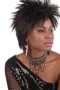 80s Pink Earrings Neon Lightning Bolt Rave Fancy Dress Jewellery